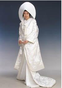 white kimono called a shiromuku           meaning white purityWhite Kimono Ghost