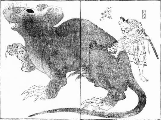 Hokusai_Tesso_Monster_Rat