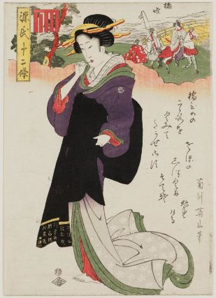 Kikugawa Eizan Hashihime Twelve Seasons of Genji