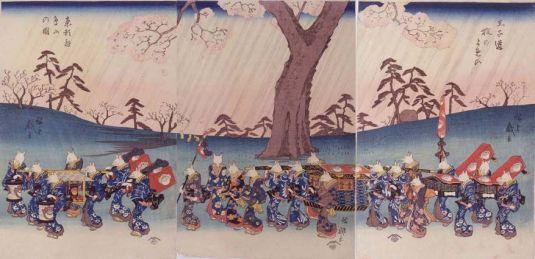 Kitsune no Yomeiri Ukiyoe