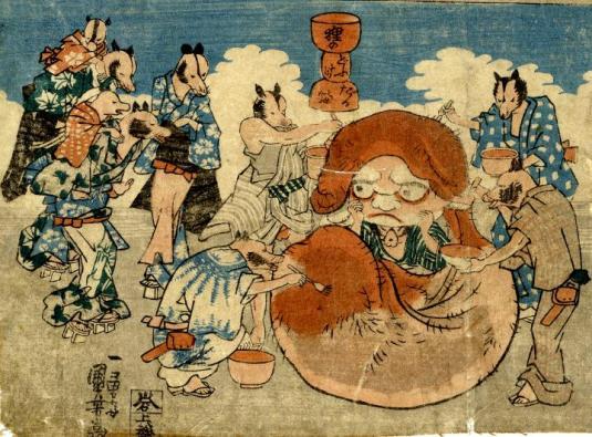 Utagawa Tanuki Balls Daruma