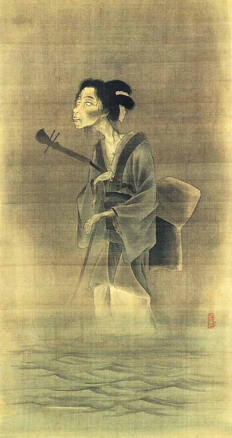 Hiroshige Ghost of a Blind Street Musician