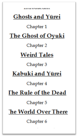 Yurei_Book_Table_of_Contents