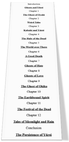 Yurei_Chapter_List